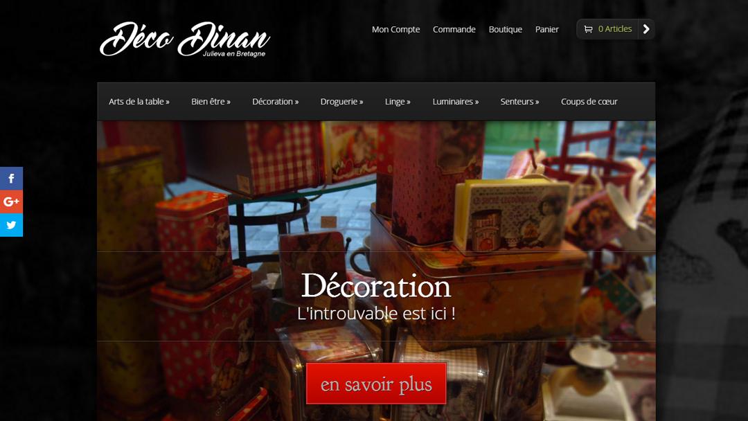 Déco Dinan première e-boutique