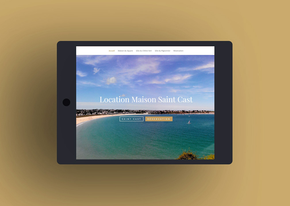 Location Maison Saint Cast création site internet