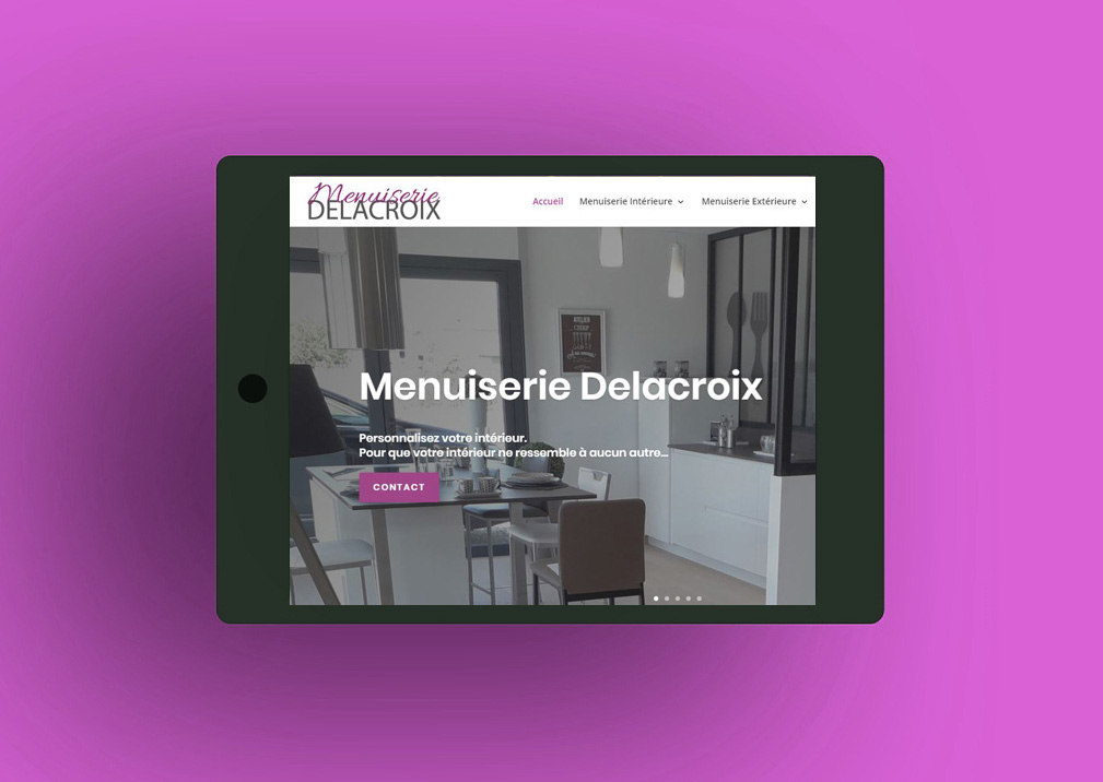 Menuiserie Delacroix création site internet